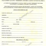 USA Patriot Act Anti Terrorist Form from Ruth
